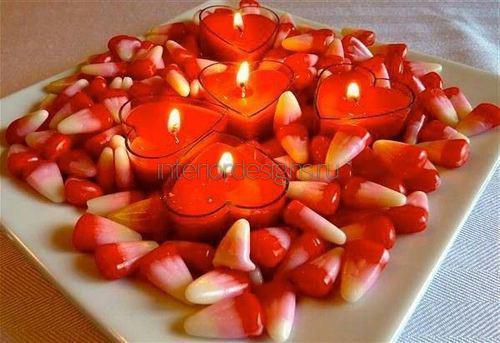 Свечи-сердечки