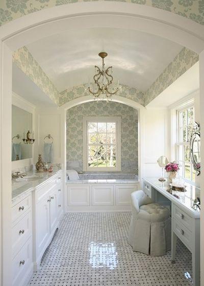Классический Ванная комната Дом