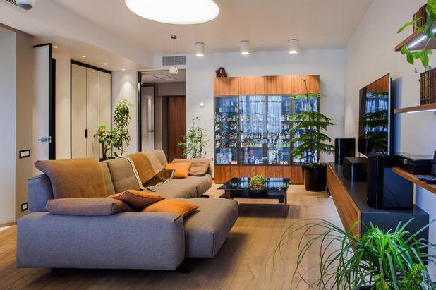 Современный Гостиная 2х комнатная кваритра