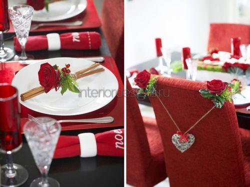 Декор стола ко Дню влюбленных