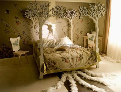 Креатив в интерьере спальни