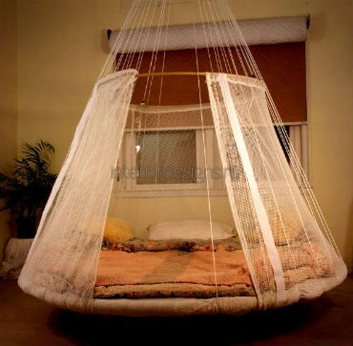 Подвесная кровать с балдахином