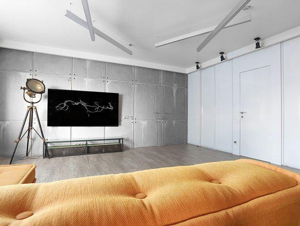 Современный Гостиная Квартира «Цифровой код» 80 м. кв.
