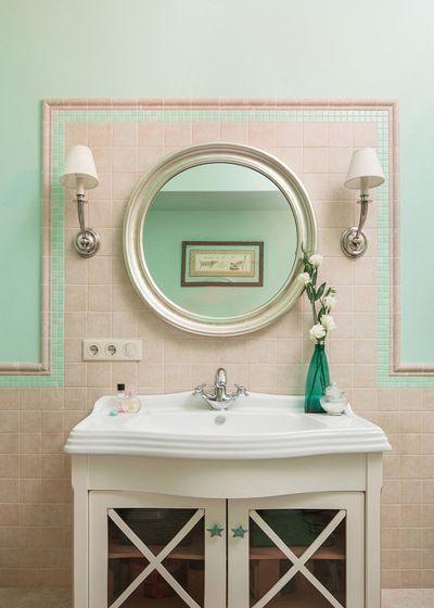 Современная классика Ванная комната Вкус солнечного лета (реализованный проект)