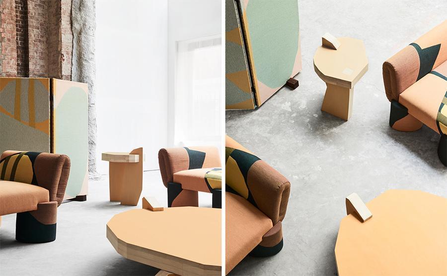 Абстрактная мебель и текстиль итальянского архитектора Джанкарло Валле