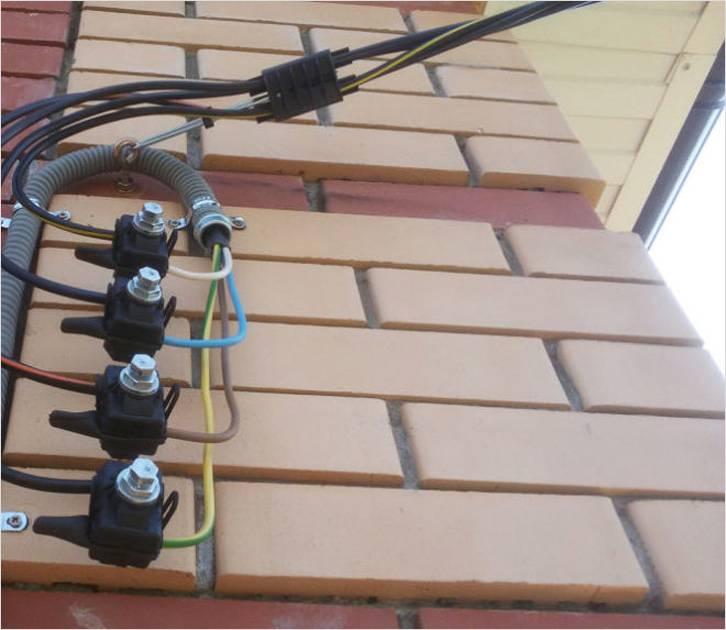 Ввод в здание от СИПа кабелем