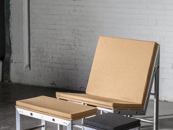 PZZL / коллекция «The Great Escape» / Мебель из алюминиевых лестниц